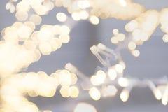 String light on white fabric wedding decorate