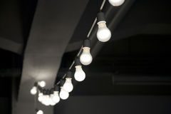 String of lightbulbs Stock Image