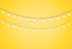 String of Lights. hanging light bulbs. Illustration design graphic Royalty Free Stock Photo