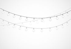 String of Lights. hanging light bulbs Stock Photo