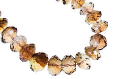 String of morion necklace Royalty Free Stock Photo