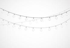 Free String Of Lights. Hanging Light Bulbs Stock Photo - 57545110