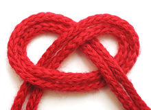 String Of Red Yarn Royalty Free Stock Images