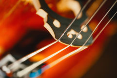 String of old shabby cello Stock Photo