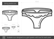 String pantie line icon. Royalty Free Stock Photo