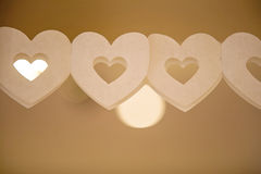 String of paper hearts Stock Images