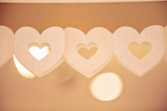 String of paper hearts Stock Image