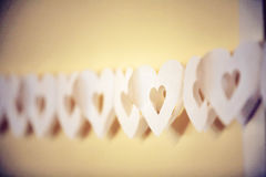 String of paper hearts Stock Photo