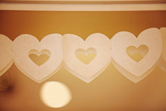 String of paper hearts Royalty Free Stock Photos