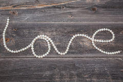 String of pearls. Love. Jewelry Stock Photography