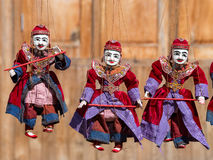 String Puppet Myanmar tradition dolls Royalty Free Stock Image