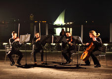 String Quartet in Doha Stock Photo
