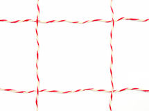 String red and white as frame Stock Images