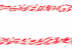 String red and white as frame Royalty Free Stock Photos