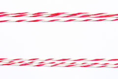 String red and white as frame Royalty Free Stock Photography
