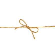 String tied in a bow Royalty Free Stock Image