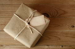 String Tied Parcel with Label Royalty Free Stock Image