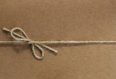 String tied on Recycled Paper Stock Image