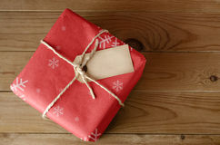 String Tied Red Christmas Parcel Stock Images