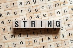 String word concept royalty free stock photography