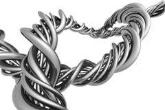 Stringa d'argento astratta di alluminio illustrazione vettoriale