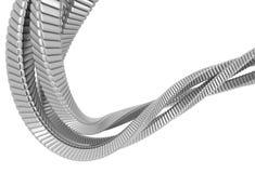 Stringa d'argento dell'estratto del metallo illustrazione di stock