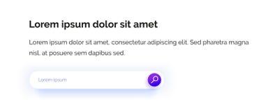 Stringa da ricercare Campo introdotto Web design Icona porpora illustrazione vettoriale