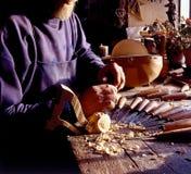 stringed gammalt för instrumenttillverkare Arkivbild