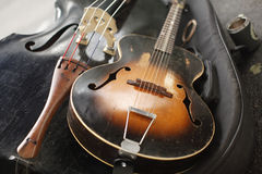 stringed instrumentmusikal Royaltyfri Foto