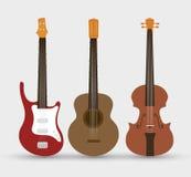 Stringed instruments set isolated icon design Stock Photos