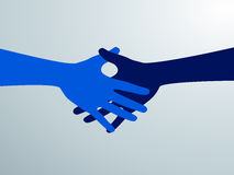 Stringere le mani di due genti di affari Simbolo della mano di scossa Vettore Fotografie Stock
