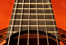 Stringhe della chitarra Fotografia Stock