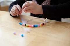Stringing Beads Stock Photos