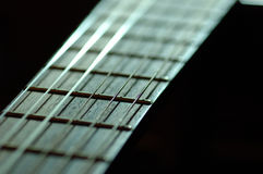 Strings. 6 Strings of Concert Guitar Royalty Free Stock Photography