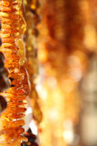Strings of Amber Gemstones Stock Photos