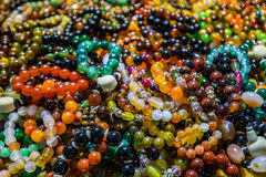 Strings of beads make cool pattern Royalty Free Stock Images