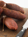 Strings of Chorizo Sausage Royalty Free Stock Image