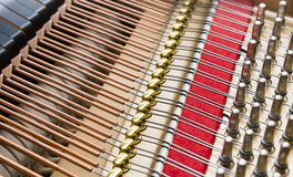 Strings,cords and piano hammers Royalty Free Stock Photo