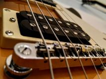 Strings. Electric guitar strings stock photo
