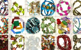 Strings of glass beads Stock Photography