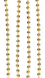 Strings of golden beads. Royalty Free Stock Image
