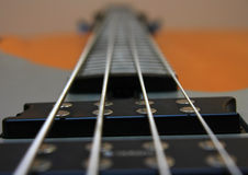 Strings on a guitar Royalty Free Stock Images
