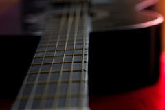 Strings. Guitar strings in the dark Stock Image