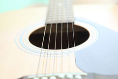 Strings on the guitar stock image