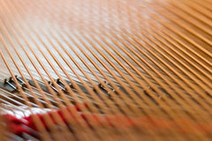 Strings in piano Royalty Free Stock Images