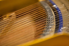The strings of the piano closeup Stock Images