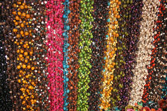 Strings of tagua beads at the Otavalo market Stock Images
