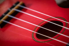 Strings of ukelele royalty free stock photography