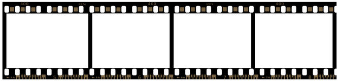 Strip of 35mm film Royalty Free Stock Image