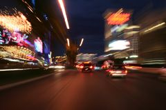 Strip At Night Stock Photography
